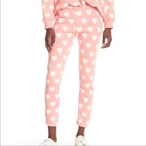 WolfFox lt pink heart sweatpants/joggers, size S